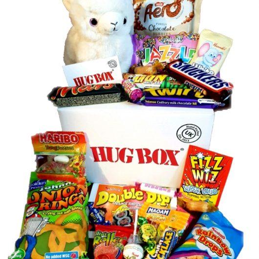 llama hug box
